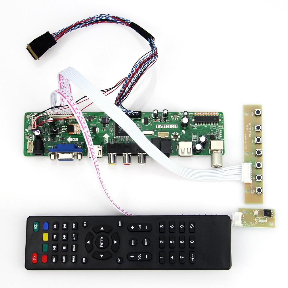 LCD LED controller Driver Board TV+HDMI+VGA+CVBS+USB CB Kit For LP154WX4 TL