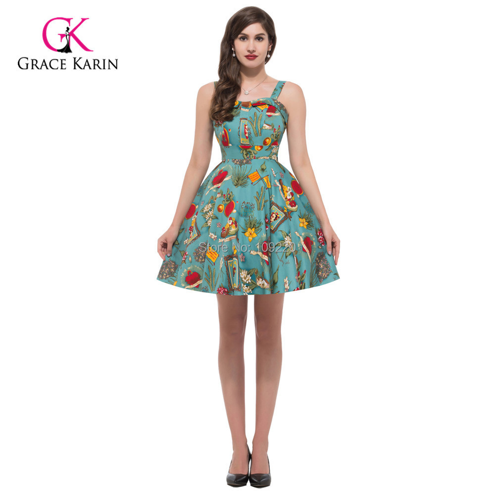 US $60.67 |Women Summer style plus size clothing pin up Dress Rockabilly  Vintage Audrey Hepburn Swing 50s 60s mini dress vestidos 6092-in Dresses  from ...