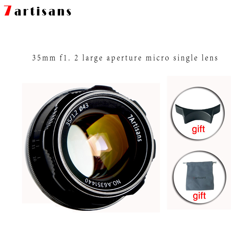 7 artisans 35mm F1.2 Premier Objectif pour Sony e-mount//pour Fuji XF APS-C Caméra Manuel sans miroir Fixe Focus Lens A6500 A6300 X-A1