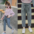 2017 New Girls Spring Summer Pants Kids Suit Pant Children Casual Trousers Toddler Pencil Pants Baby Clothes,2-7Y