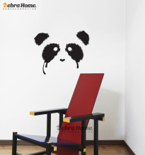 DIY Banksy Cute Panda Wall Decal Stickers Baby Kids Rooms Home Decoration  Art Vinyl Murals Wallpaper Childrens Bedroom 55*45CM Part 83