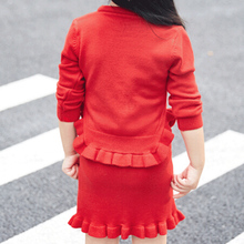 Kids Outfits Knitted Sweater + Knitted Skirt Set