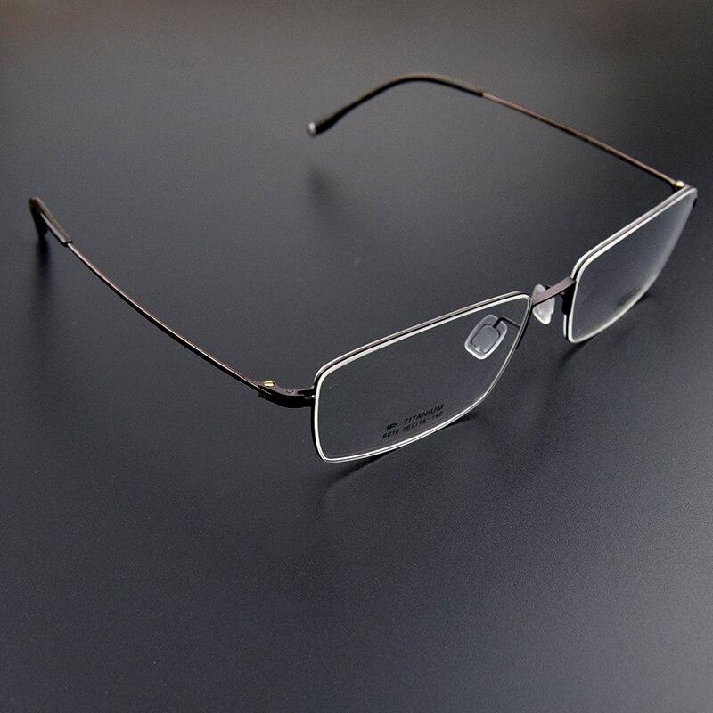 d1665c19fb Chlpond Luxury 100% Pure Titanium Half Rim Brand Eyeglasses Men Optical  Spectacle Frame Eye Prescription ...