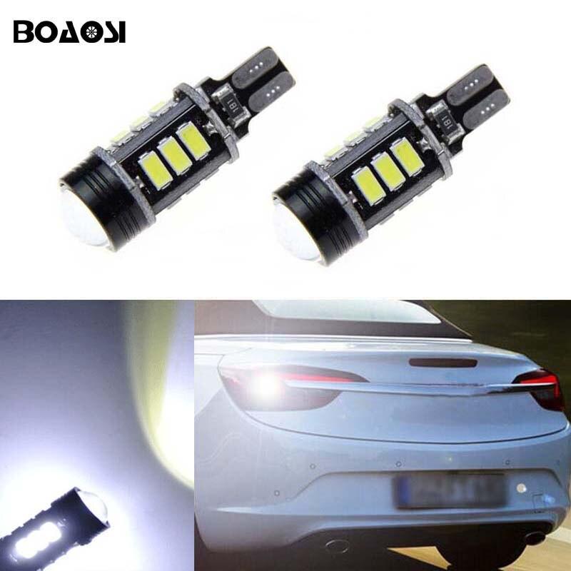 BOAOSI 2x T15 W16W Αντίστροφη φώτα ανάφλεξης με οπίσθιο φωτισμό λευκού LED Canbus για το κιβώτιο ταχυτήτων Opel Meriva B Mokka Zafira Tourer