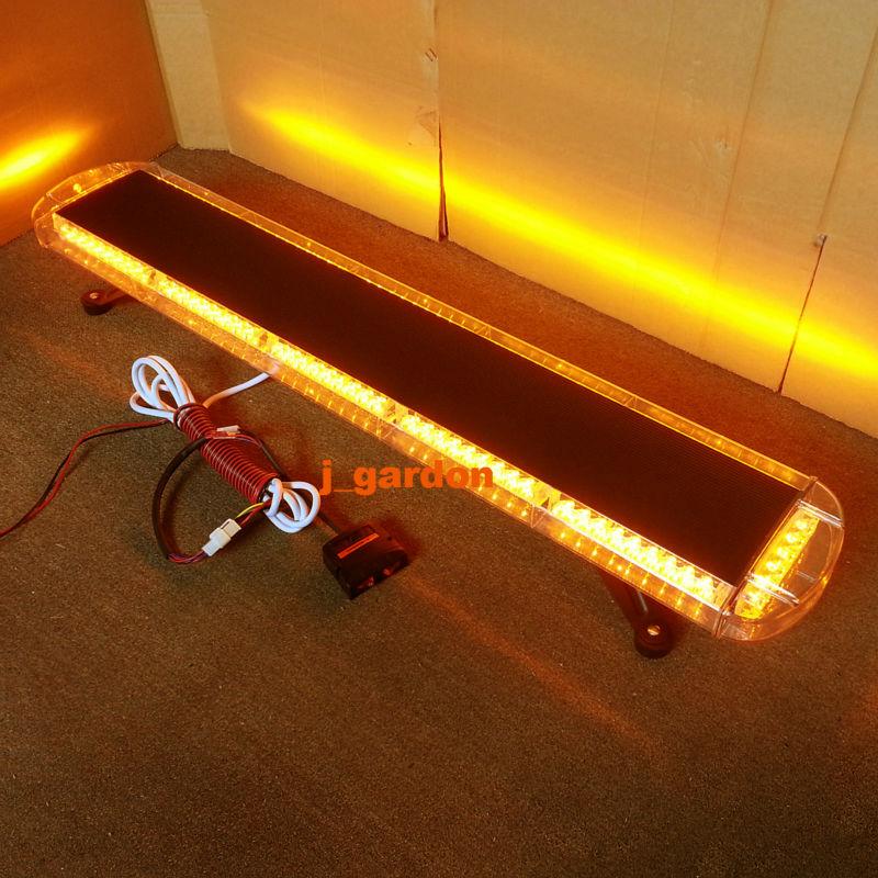 Black Aluminium Case 12V -24V 46.5102 LED Emergency Warning LightBar Recovery Wrecker Flashing Light Amber Strobe Lightbar