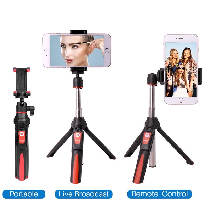 BENRO MK10 Handheld Tripod Selfie Stick 3 in 1 Bluetooth Extendable Monopod Selfie Stick Tripod for iPhone 8 Samsung Gopro 4 5