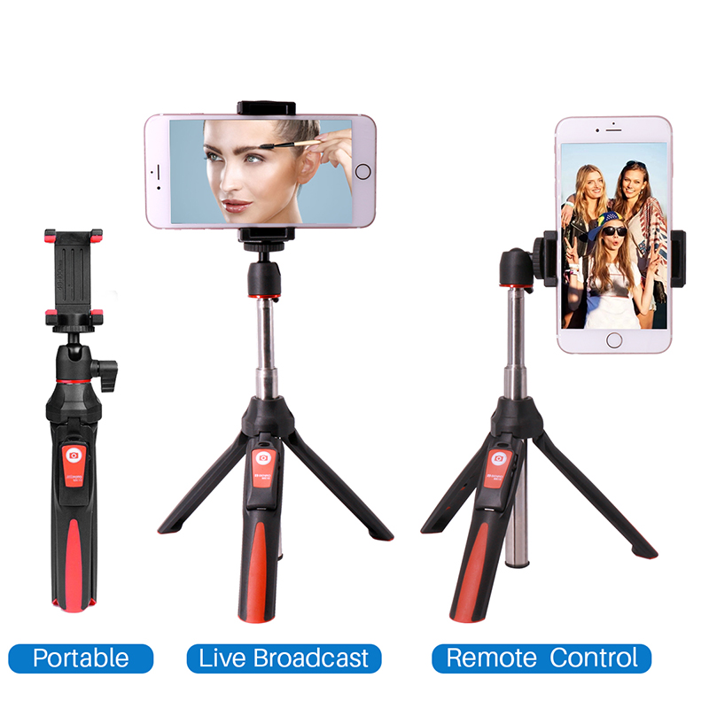 BENRO MK10 Handheld Tripod Selfie Stick 3 in <font><b>1</b></font> Bluetooth Extendable Monopod Selfie Stick Tripod for <font><b>iPhone</b></font> 8 Samsung Gopro 4 <font><b>5</b></font> image