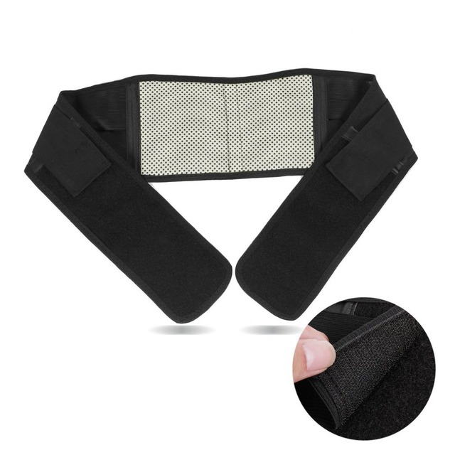OUTAD 1PC Adjustable Infrared Magnetic Back Brace Posture Belt Lumbar Support Lower Pain Massager Self-heating Waist Belt