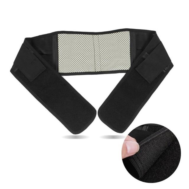 OUTAD 1PC Adjustable Infrared Magnetic Back Brace Posture Belt Lumbar Support Lower Pain Massager Self-heating Waist Belt