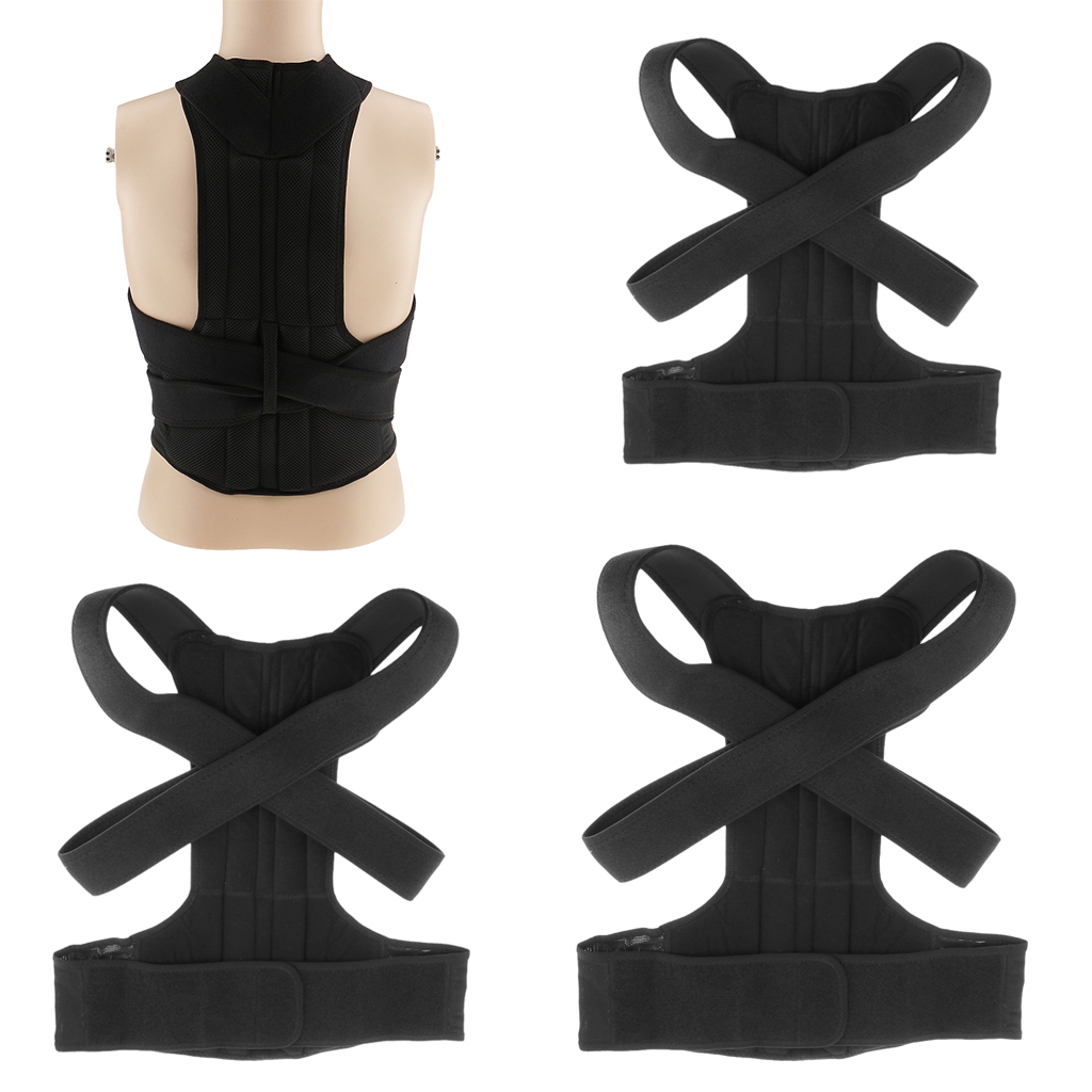 Adjustable Women Men Back Posture Corrector Belt Lumbar Shoulder Corrective Correcting Support Brace Pain Therapy M L XL