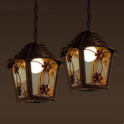 RH Loft Style Droplight Vintage Pendant Light Creative House Hanglamp Fixtures For Bar Cafe Home Lightings Lamparas Colgantes edison inustrial loft vintage amber glass basin pendant lights lamp for cafe bar hall bedroom club dining room droplight decor