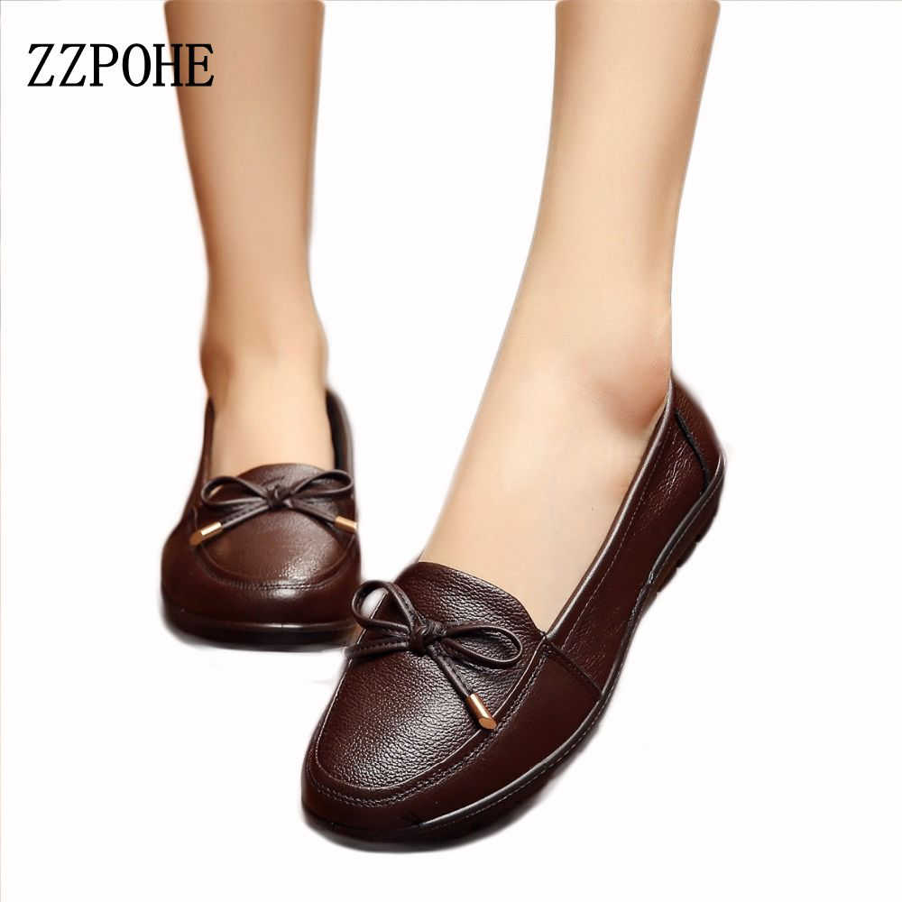 ZZPOHE fashion women's singles sets foot shoes soft bottom flat heel large size ladies shoes black work shoes slip Mother shoes phil collins singles 4 lp