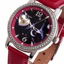 TIME100 12 Constellation Automatique Mécanique Montres Femmes Diamant Montre Étoiles Bracelet En Cuir Casual Montre-Bracelet Relogio Feminino