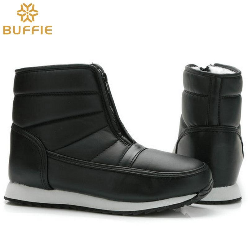 Hombres botas de invierno grandes yardas estilo corto botas de nieve caliente piel impermeable superior suela antideslizante padre abuelo botas de invierno Niño
