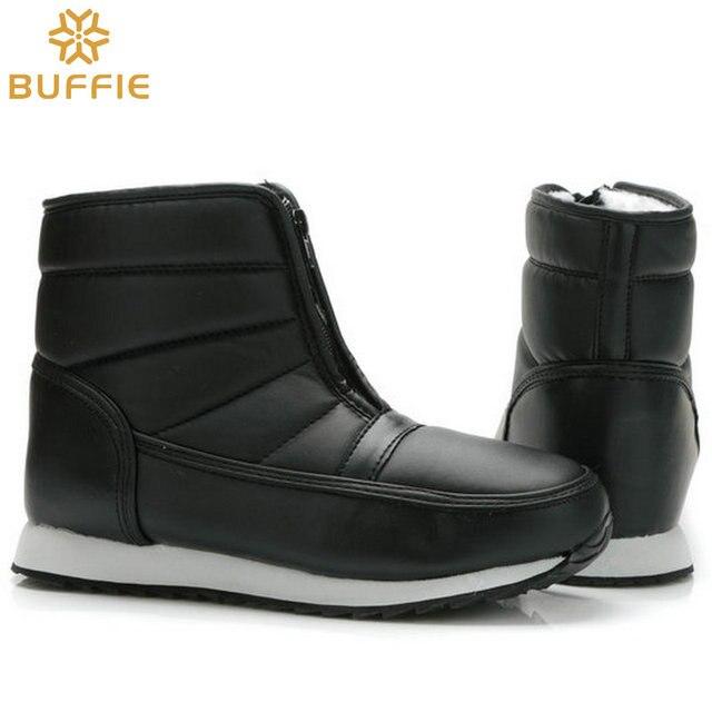 Mężczyźni buty zimowe duże stocznie krótki style snow boots warm fur wodoodporna górna antypoślizgowa podeszwa ojciec dziadek chłopca buty zimowe