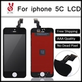 10 unids grado aaa sin píxeles muertos para iphone 5c pantalla lcd con la pantalla táctil digitalizador asamblea reemplazo de piezas libre de dhl