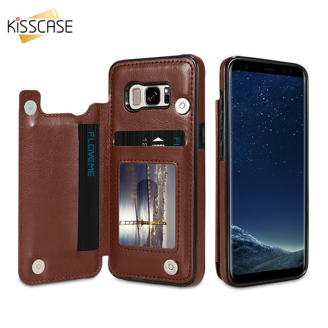sports shoes e7aef 12581 US $4.49 20% OFF|KISSCASE Retro Card Holder Case For Samsung Note 9 8 S9 S8  Plus For Samsung Galaxy S7 S7 Edge Flip Leather Wallet Phone Case Bag-in ...