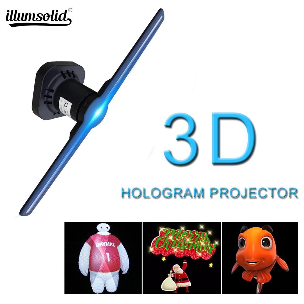 3D hologramme WiFi App contrôle publicité affichage ventilateur LED réalité virtuelle hologramme graphique Projection