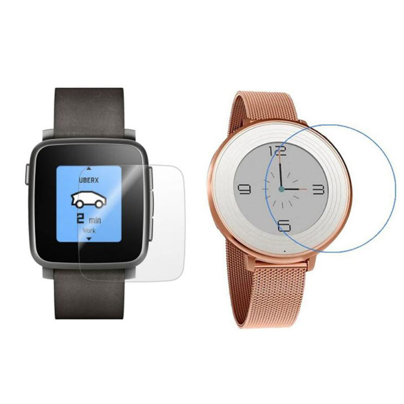2pcs Soft TPU Ultra Clear Protective Film Guard For Pebble Time Steel /Time Round Smart Watch Screen Protector Cover (Not Glass) image
