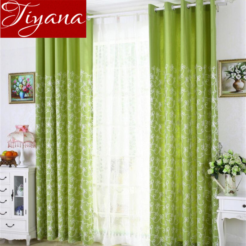 Green Curtains Sheer Voile Window Modern Living Room Bedroom Curtians Tulle  Blue Fabrics Shade Purple Cortinas