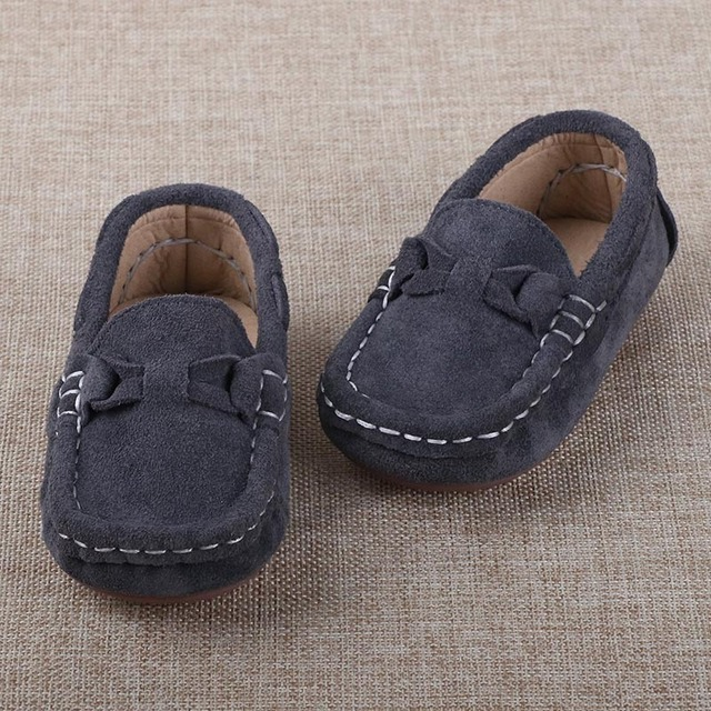 Children Shoes Girls Leather Shoes 2016 Autumn New Flat Heel Comfortable Soft Sole Toddler Baby Moccasins Boys Shoes