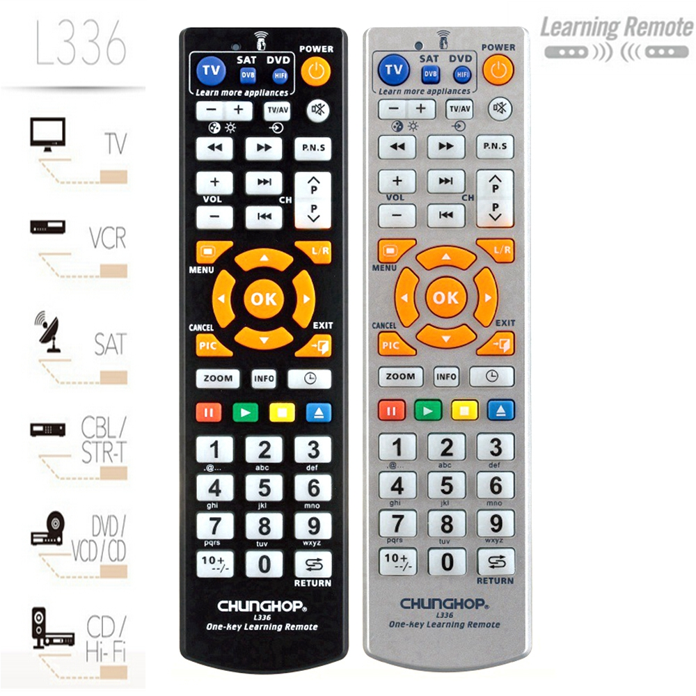 Universal Smart Remote Control Permanent Setting UP Memory Learning Remote Controller For TV SAT DVD CBL CD One Key To learn chunghopchunghop media remote control controller dvd entertainment multimedia for xbox one new