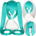 double ponytail vocaloid wig miku anime wigs cosplay hatsune miku wig green long heat resistant synthetic wigs straight hair