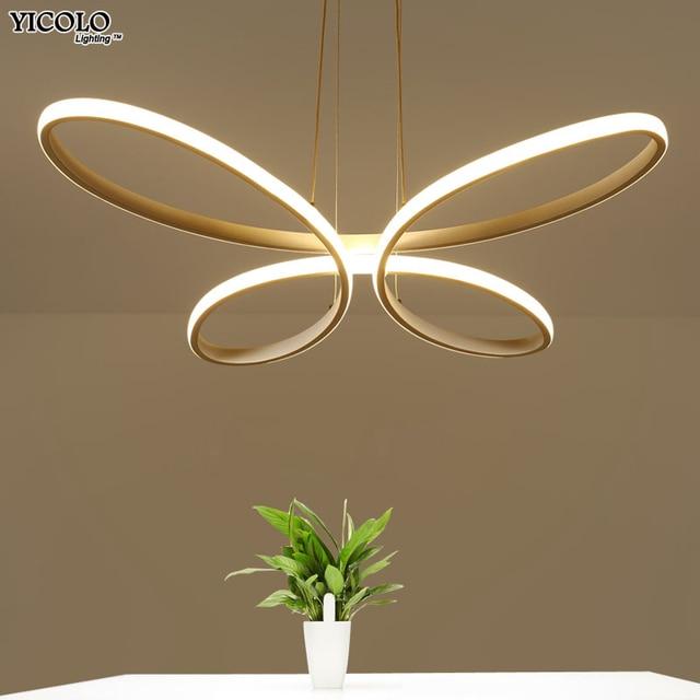 Moderne LED Anhänger Kronleuchter Für Esszimmer Küche Zimmer Bar AC85 265V  Aluminium Hängen Anhänger Kronleuchter