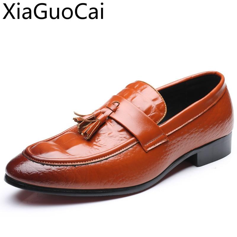46 Hommes Véritable Crocodile De red yellow Casual Espadrilles Chaussures Taille Occasionnelles Slip On Grande Black Cuir Motif 47 Été Mâle wr0zEdw