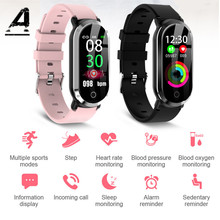 Купить с кэшбэком Smart Watch Women Fitness Clock IP67 Waterproof Sports Smart Watch Women Heart Rate Detector Fitness Tracker Gift for Girlfriend