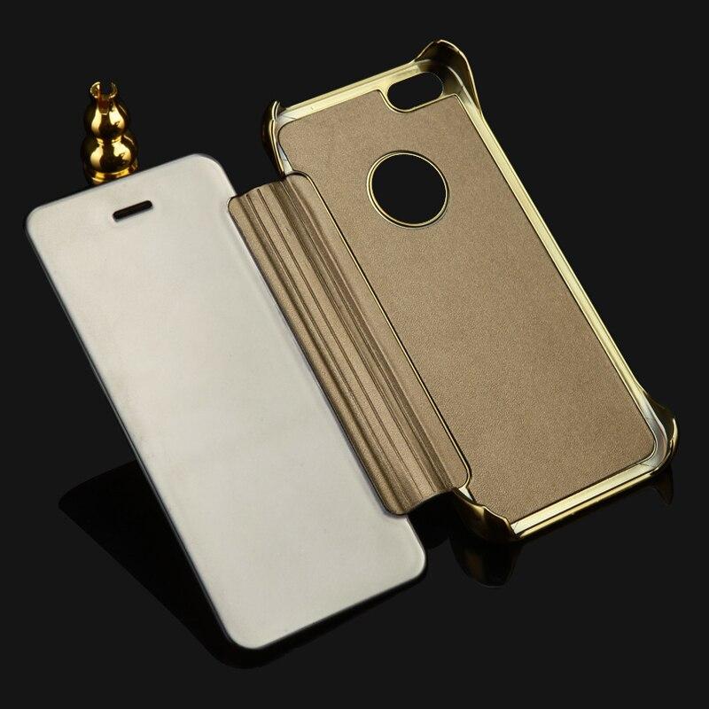 2015 lyxigt klart spegelfodral för iPhone 5 5S 5G Flip Smart Phone - Reservdelar och tillbehör för mobiltelefoner - Foto 1