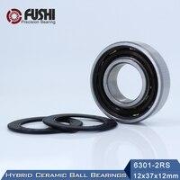 6301 Hybrid Ceramic Bearing 12 37 12 Mm ABEC 1 1 PC Industry Motor Spindle 6301HC