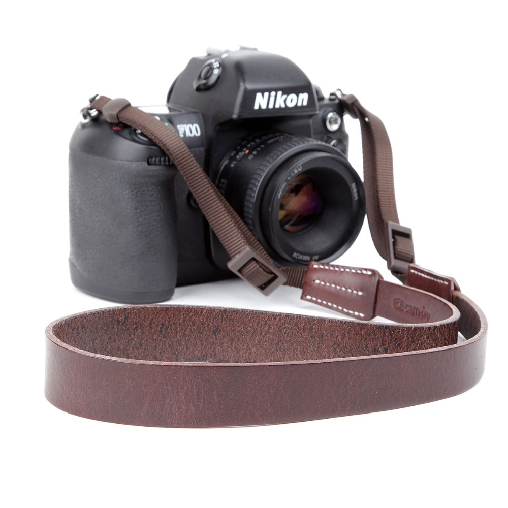 Cam-in 3406 cowhide material Digital SLR Neck strap Shoulder band for SONY Nikon Canon