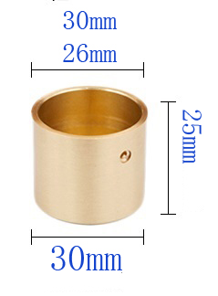 4Pcs Metal  Legs  Round Brass Tip Cap for Mid-Century Modern Table Leg Feet Replacement Cover and Sofa Foot Seal Cover