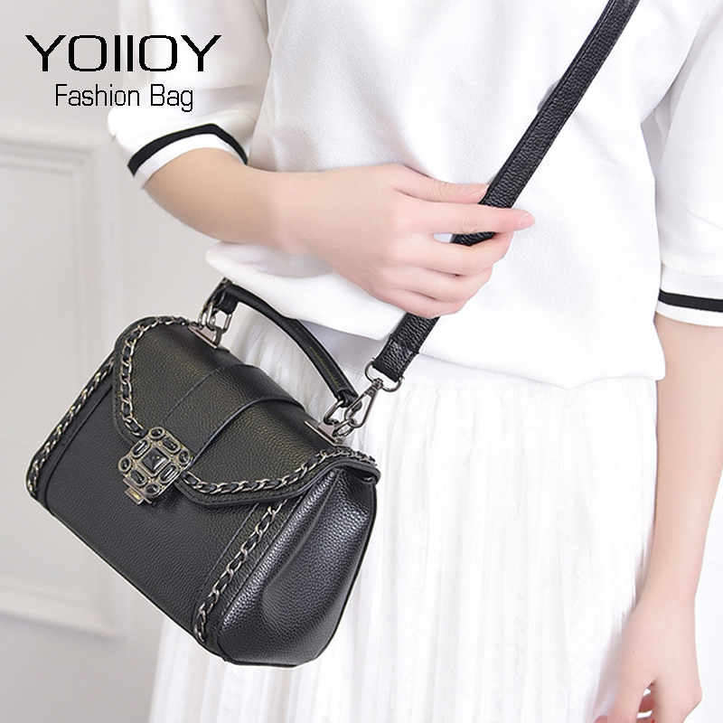 8d08744c17828 YOIIOY Women Handbag Small Fashion PU Leather Bags Women Messenger Bag  Droplets Lock Female Tote Reteo Shoulder Crossbody Bags-in Shoulder Bags  from Luggage ...
