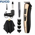 Flyco profesional corte de pelo profesional recargable clipper para hombres o herramientas de corte de pelo de acero inoxidable bebé fc5803