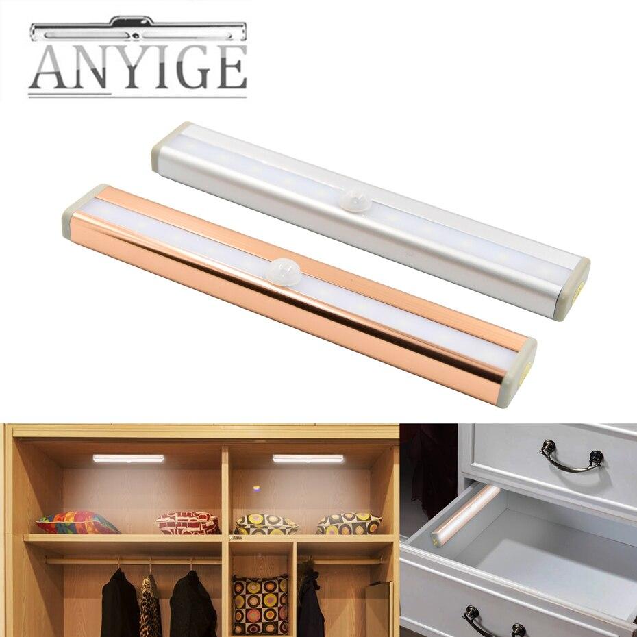 Lights & Lighting 27 Led Stick On Cabinet Rechargeable Wardrobe Kitchen Lamp Nightlight Pir Motion Sensor Under