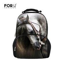 FORUDESIGNS horse backpacks for teens school bag, school backpack feminine women backpacks for children girls kids back pack