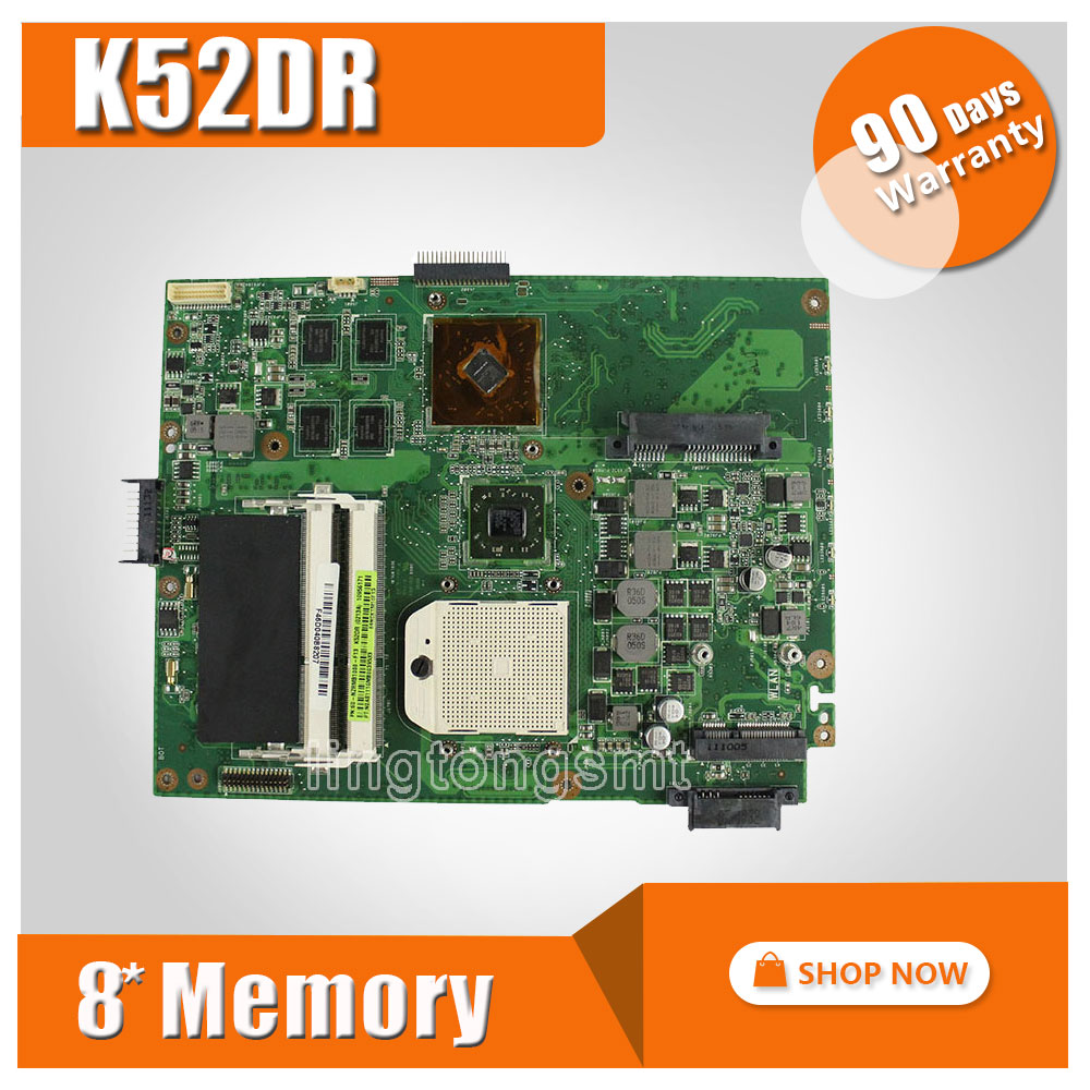 for ASUS K52DR laptop motherboard K52DY A52DE K52DE A52DR K52D Notebook mainboard HD5470 with 8pcs memory video card 100% tested k52d heatsink for asus laptop motherboard k52 k52d k52dr k52de k52dy x52d a52d cpu cooling heatsink 13n0 k1a0201 tested well