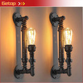 Лучшая цена 1 шт. промышленные сельский стимпанк металлическая труба эдисон лампы старинные настенные светильники балкон с E27 луковица ржавчины стены бра