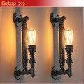 Mejor precio 1 unids Rustic Industrial Steampunk METAL bombilla Vintage Edison lámparas balcón con E27 bombilla óxido aplique de la pared