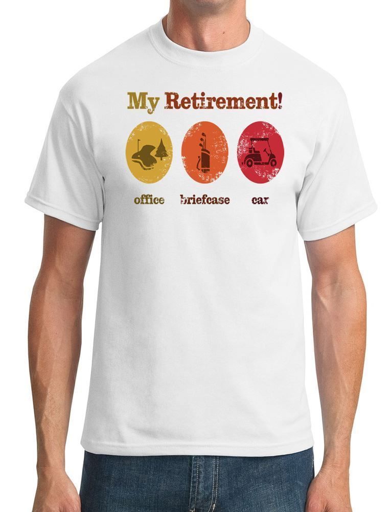 My Retirement - Funny Golfed Mens T-Shirt Summer Short Sleeves Cotton Fashion t Shirt