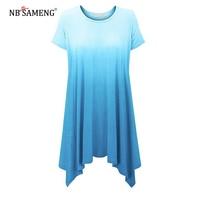 2017 Women Shirt Female Tops Korean Hot Summer Casual Comfortable Gradient Women S O Neck Short