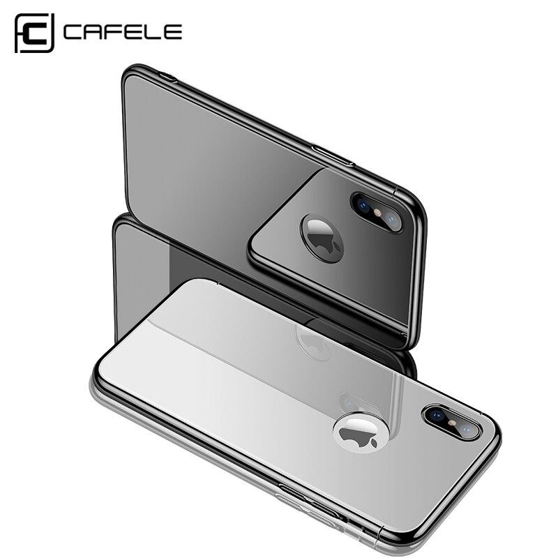 CAFELE закаленное Стекло чехол для iphone X PC покрытие кадров чехол для iphone X Съемная гладкая Touch Cover логотип отверстие стиль