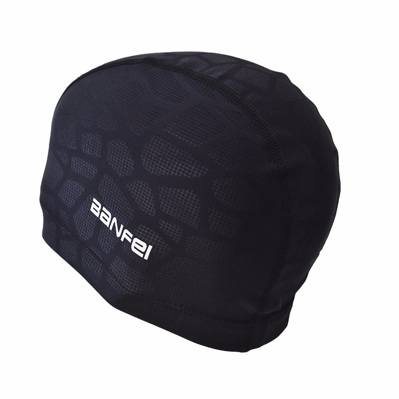 Men 39 S Professional Swimming Caps Pure Color Swimming Hat Pool Wear Protect Ears Durability Men