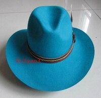 100 Wool Cowboy Hat Riding Hat High Grade Wrinkle Cap Men And Women Fedoras Hat Deep