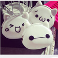 Korean white Color  Girls Coin Bags Women Key Wallets Cute Cartoon Silicone Mini Coin Purse Children Kids Gifts