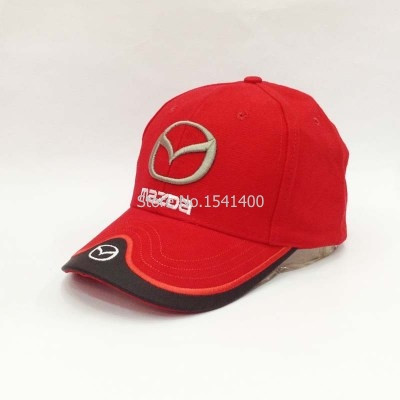 New arrived hat F1 race hat Mazda baseball cap wholesale red black beige  blue colure 40e7d9598d4