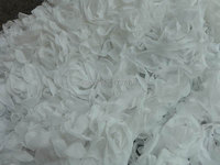 WHITE Fabric White Chiffon Fabric White Shabby Rosette Fabric Wedding Bridal Fabric by the yard