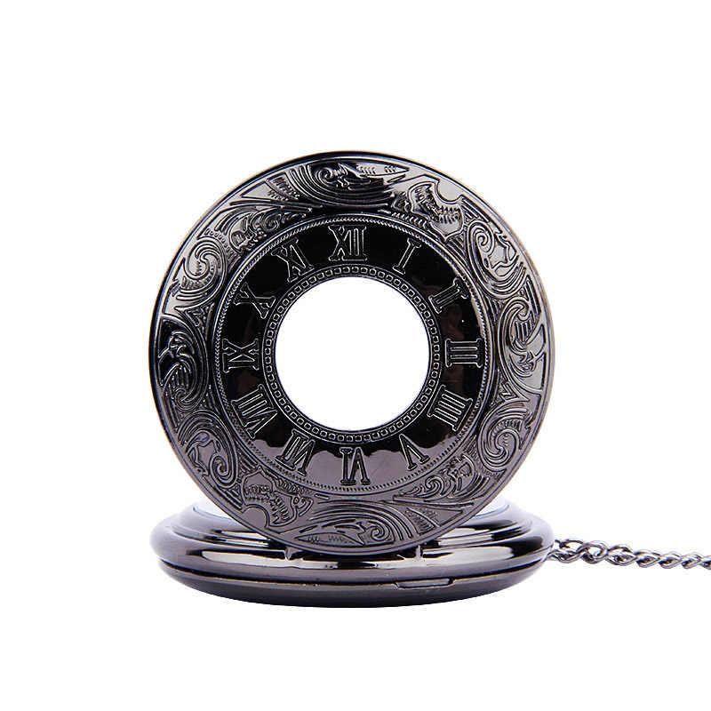 Fob כיס שעון Vintage רומי ספרות קוורץ שעון שעון עם שרשרת עתיק תכשיטי תליון שרשרת מתנות לאב LL @ 17